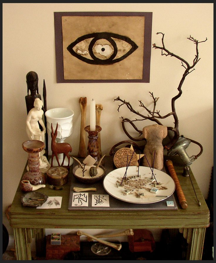 Create your own altar in my sacred space for Pagan decorations for the home
